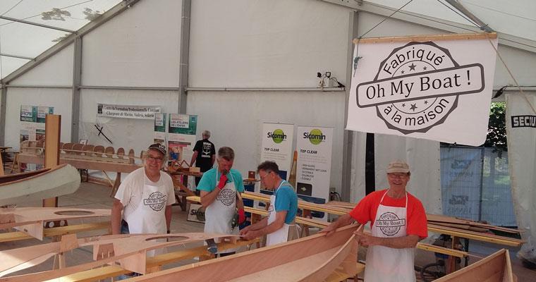 Kayak LEO en construction dans le port de Vannes